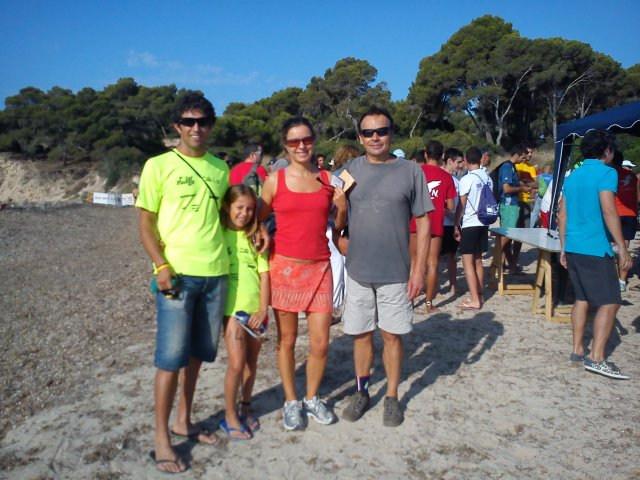 Javi, la seva filla (dos nedadors de primera!), en Ramon i jo